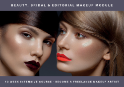 beauty, bridal & editorial makeup module